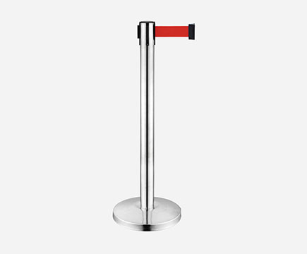 LG-A1 Stainless Steel Crowd Control Retractable Belt Stanchion Formovie Theater