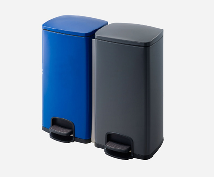 MAX-F108-A Stainless Steel Powder überzogen Blue/Grey Double Stainless Steel Pedal Bin für Office