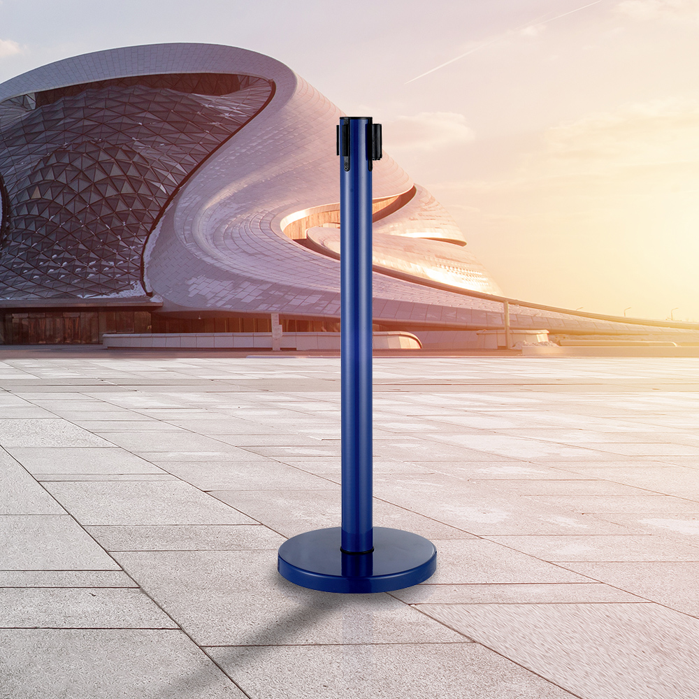 LG-B6 Blue Vip Control Crowd Queue Pole Post Belt Stanchions für den Flughafen