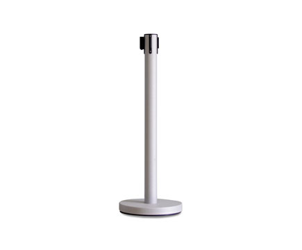 LG-B8 Silver wrinkle Finish Queue Line Stand Control Crowd Queue Post Belt Stanchions
