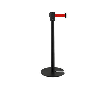 LG-H1 U Form/stapelbare Base Black Retractable Belt Black Stanchions