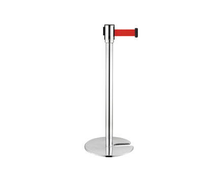 LG-H2 U Form/stapelbare Base Stainless Steel Retractable Belt Stanchions Pole