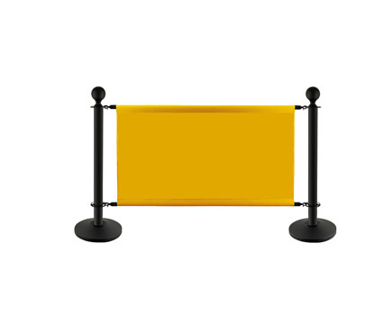 LG-S1 Economy Standard Outdoor Banner Stand Display Stanchion Cafe Barrier