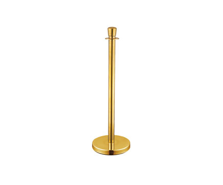 LG-M1 Titan Golden Queue Barrier Stainless Steel Crowd Control Stanchion Posts