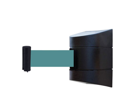 WM-02-5 Social Distancing Magnetic Wall Mounted Retractable Belt Barrier